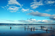The beach at Findhorn